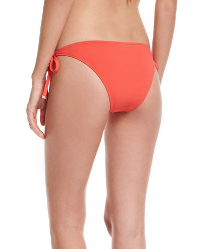 Euro Beaded Tie-Side Swim Bikini Bottom
