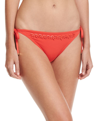 Euro Beaded Tie-Side Swim Bottom