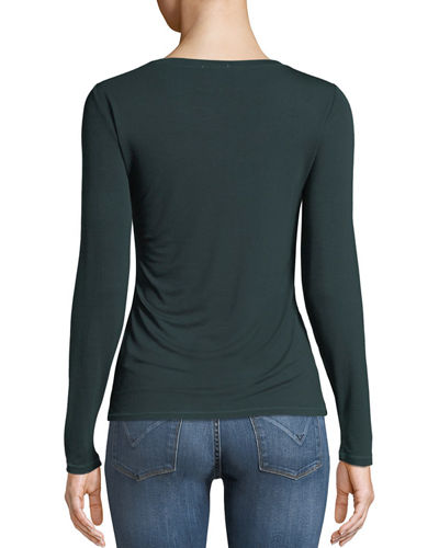 Long-Sleeve Fitted Tee
