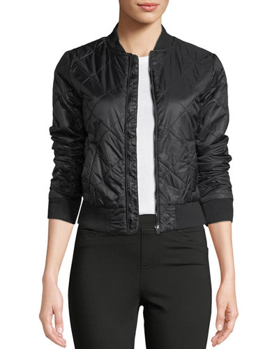 Romeo Juliet Couture Quilted Bomber Jacket
