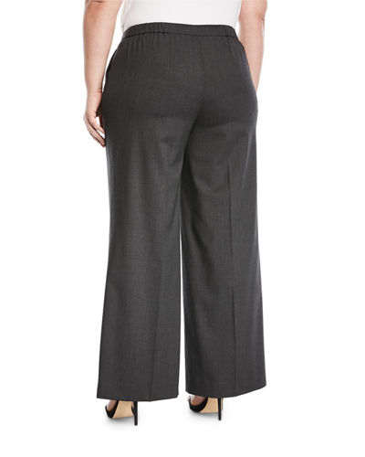 Plus Size Modern Wide-Leg Pants