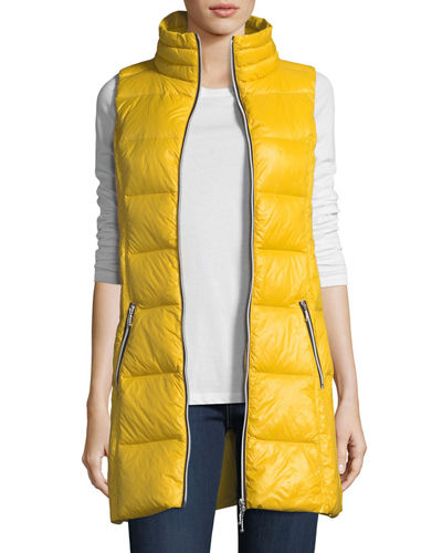 Packable Long Puffer Vest