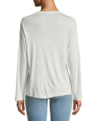 Long-Sleeve Crewneck Slub Tee