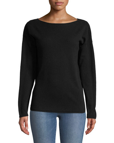 Cashmere V-Back Sweater