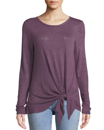Paxton Knotted-Front Tee