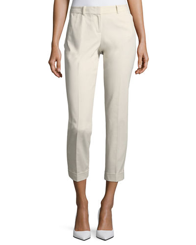 Downtown Cuffed-Hem Ankle Pants