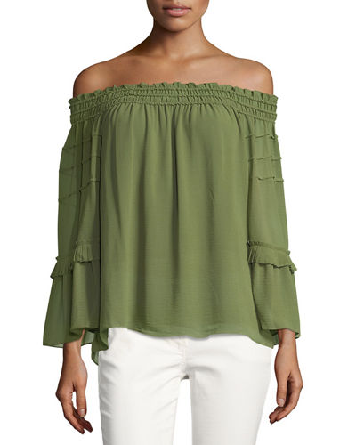 Off-the-Shoulder Tiered Blouse
