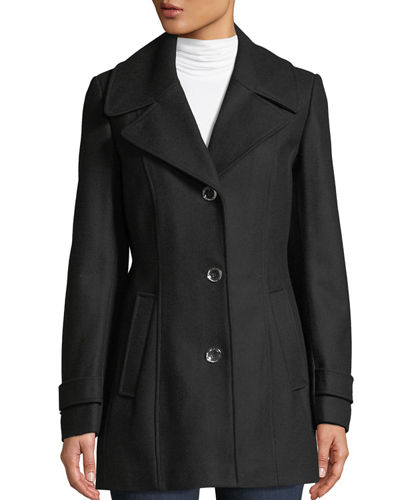 Single-Breasted Wool Pea Coat