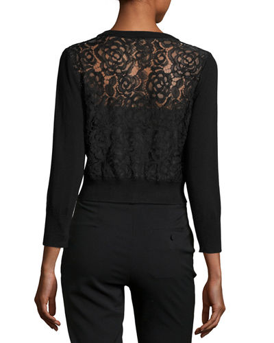 Lace-Back Shrug