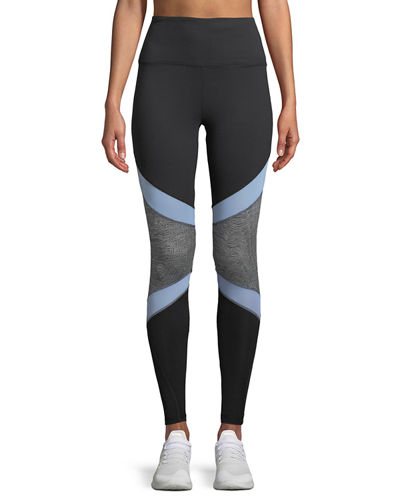 Jordan Knee-Jacquard Leggings