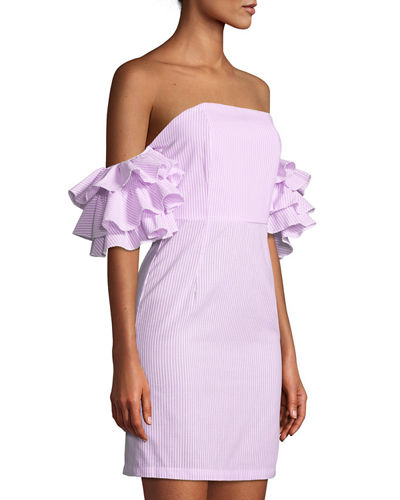 The Malibu Ruffle-Tiered Off-The-Shoulder Dress
