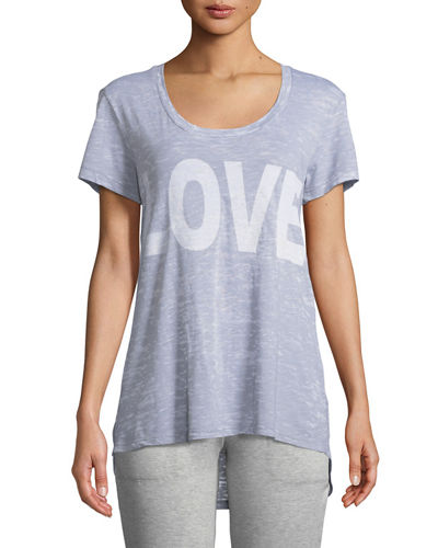 Love Short-Sleeve Distressed Tee