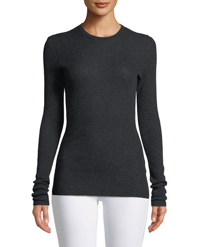 Cashmere Ribbed Long-Sleeve Tee