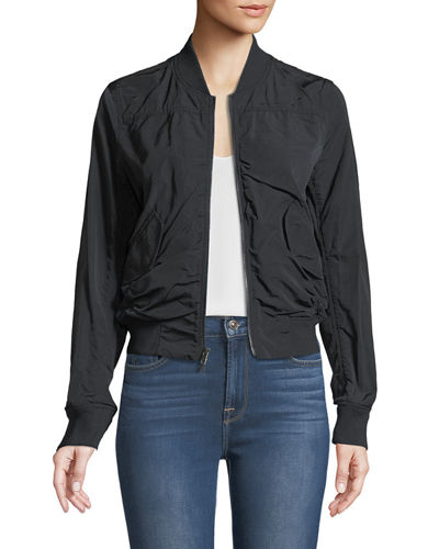 Washed Shrunken Bomber Jacket