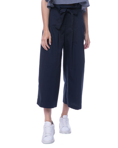 Pleated Paperbag High-Waist Pants