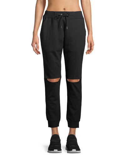 Slit-Knee Jogger Pants