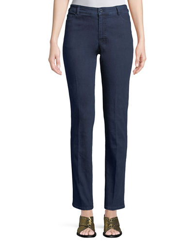 Straight-Leg Denim Pants