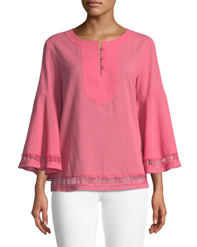Gossip Bell-Sleeve Top