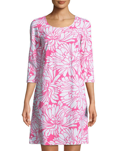 St. Simons 3/4-Sleeve Shift Dress
