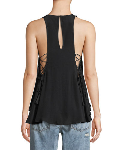 Alaine Lace-Up Side Tank