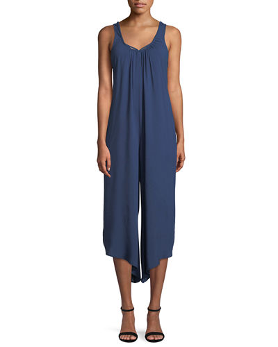 Peekaboo V-Neck Jumpsuit