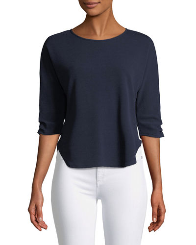 3/4-Ruched-Sleeve Tee