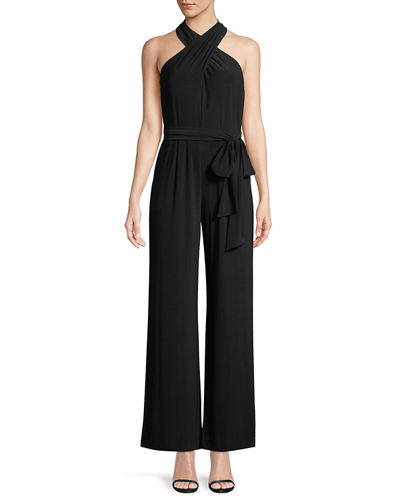 Halter-Neck Wide-Leg Jumpsuit