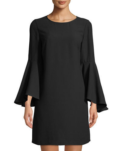 Oversized Bell-Sleeve Shift Dress