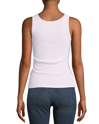 Fitted Scoop-Neck Tank Top