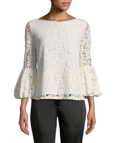Lace Blouse with Bell Sleeves