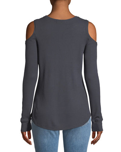 Bowery Thermal Cold-Shoulder Tee