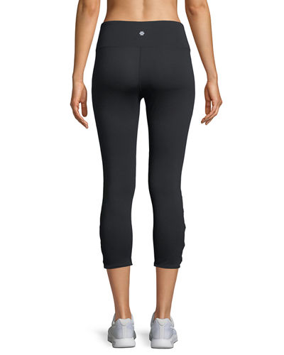 Corset-Cross Capri Leggings