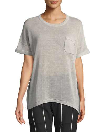 Dry Cotton Monili-Trim Crewneck T-Shirt