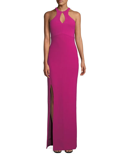 Elston High-Neck Sleeveless Gown