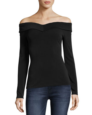 OFF-THE-SHOULDER LONG-SLEEVE TEE