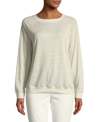 Basic Long-Sleeve Linen Tee