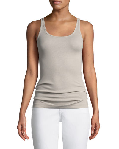 Fitted Scoop-Neck Ribbed Favorite Tank