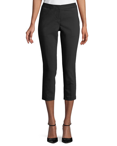 Flat-Front Ankle Pants
