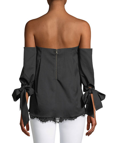 Finale Off-the-Shoulder Stretch Ottoman Top