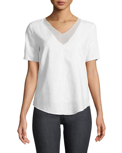 V-Neck Twofer Blouse