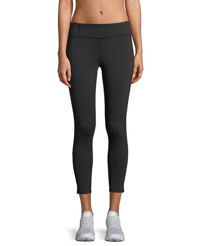 Mesh-Star Capri Leggings