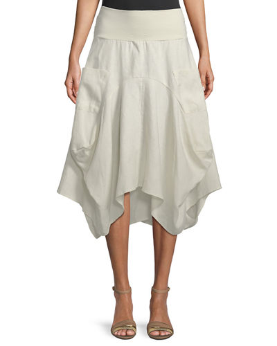 Uneven A-line Pocket Skirt