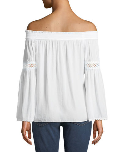 Dalia Off-The-Shoulder Peasant Blouse