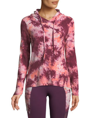 THE BALANCE COLLECTION Tatum Tie-Dye Hoodie in Orange