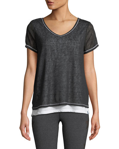 Two-Tone Overlapping Tee