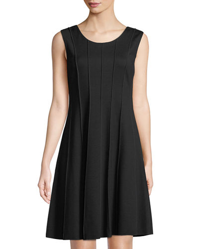 Marrow Piped Fit-&-Flare Dress
