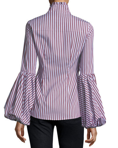 Jacqueline Striped Poplin Blouse