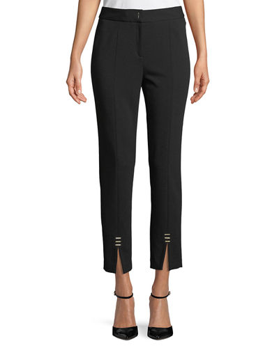 Golden-Bar Ankle Pants