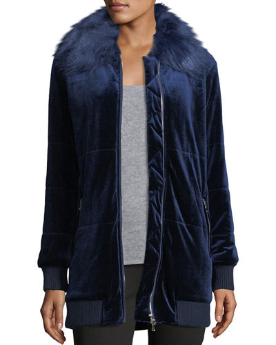 Faux-Fur Trimmed Puffer Jacket