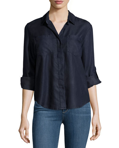 Riley Chambray Blouse